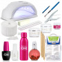 KIT COMPLET MANUCURE N°1 HND PROFESSIONNELLE HND Lampe UV,Gel,Coton,Pince,Cleaner,Primer